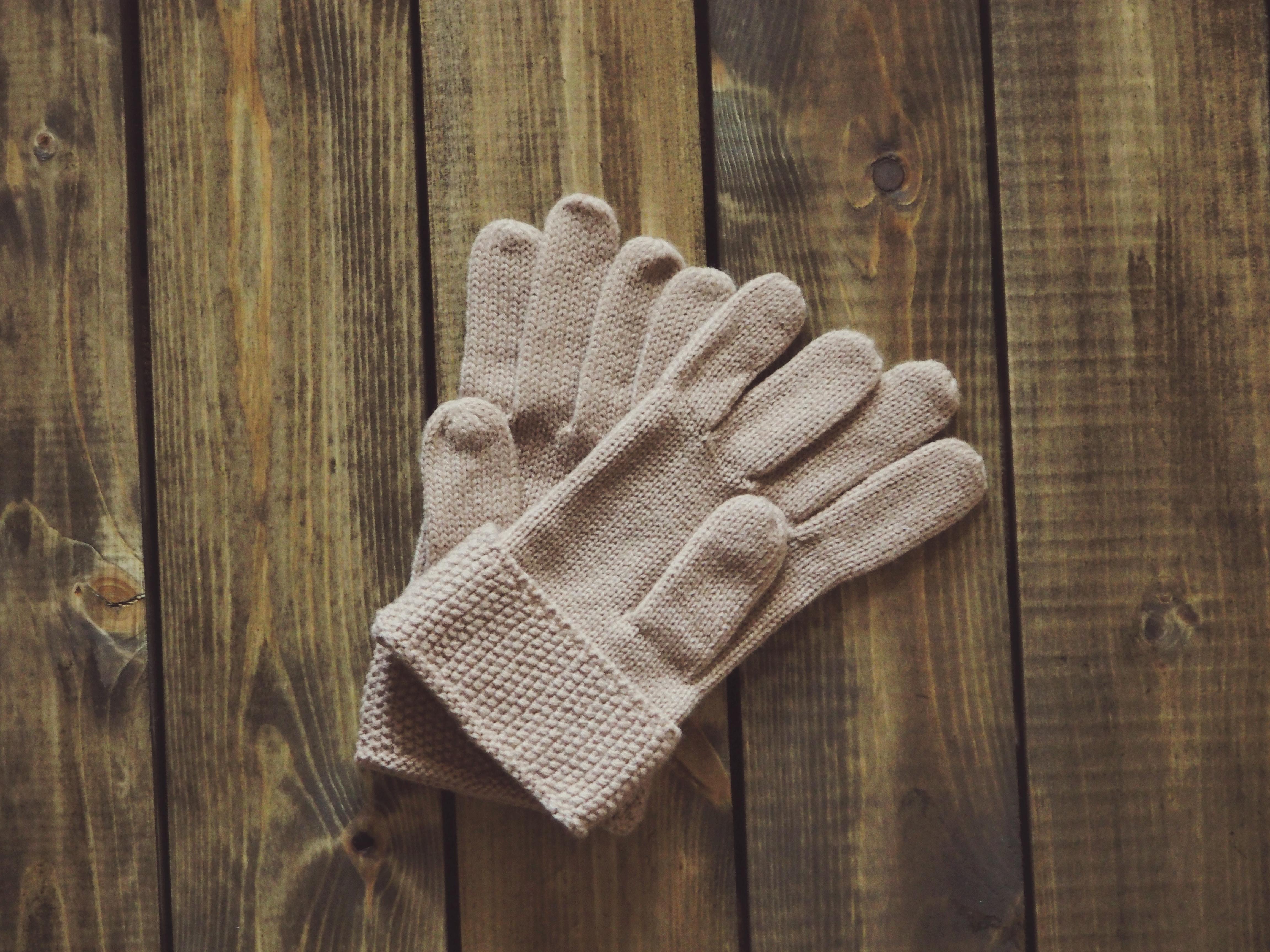 Вязанные перчатки